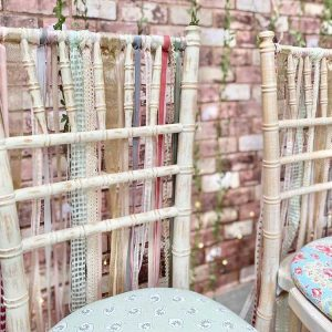 Ribbon-tied Chiavari Chairs