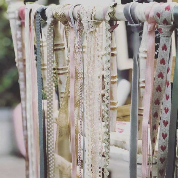 Ribbon-tied Chiavari Chairs