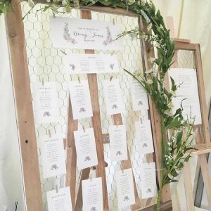 Chicken Wire Seating Plan