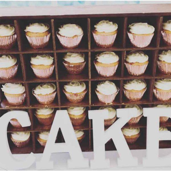 Wooden Cupcake Display Unit